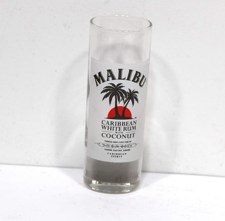 Playa del Caribe Ron blanco con coco vidrio de tiro: Amazon ...