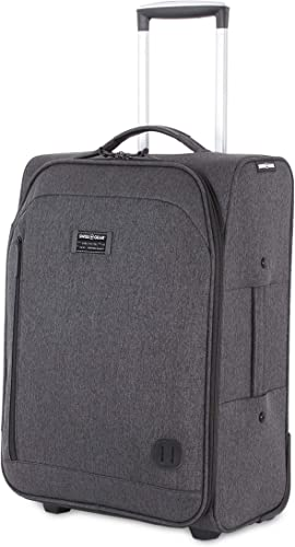 SWISSGEAR Getaway Weekend Rolling Carry-On 20-inch Luggage Wheeled Travel Suitcase Dark Gray