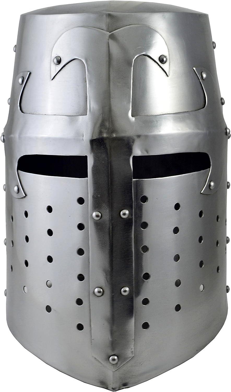 Brass Nautical - Medieval Sugarloaf Great Helm Crusader Knight Helmet