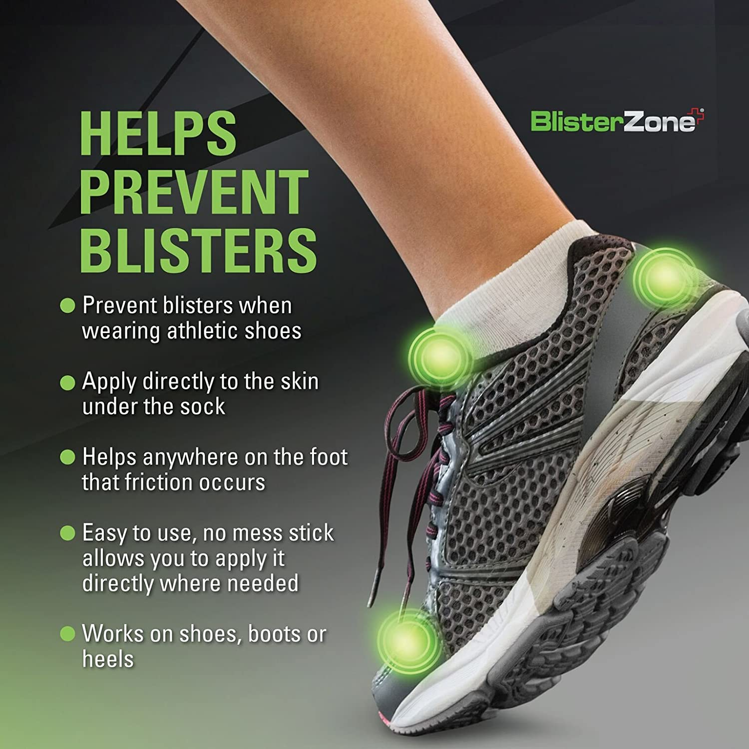Amazon.com: BlisterZone MedZone Skin Protectant Foot Blister Gel Anti-Chafe Foot Blister Protectant - 1/8 oz (3.5gm) 75 Count: Health & Personal Care