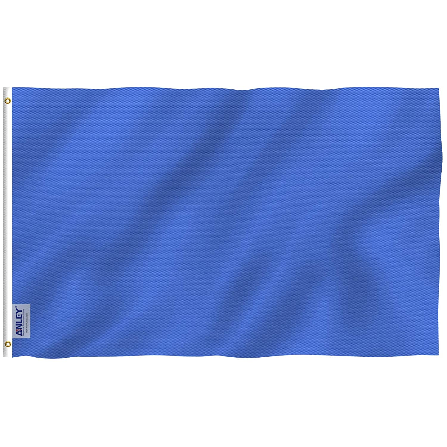 Anley Fly Breeze 3x5 Foot Solid Navy Blue Flag - Vivid Color and UV Fade Resistant - Canvas Header and Double Stitched - Plain Royal Blue Flags Polyester with Brass Grommets 3 X 5 Ft