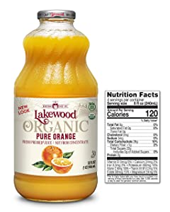 Lakewood OrganicPure Orange, 32 Ounce (Pack of 6)