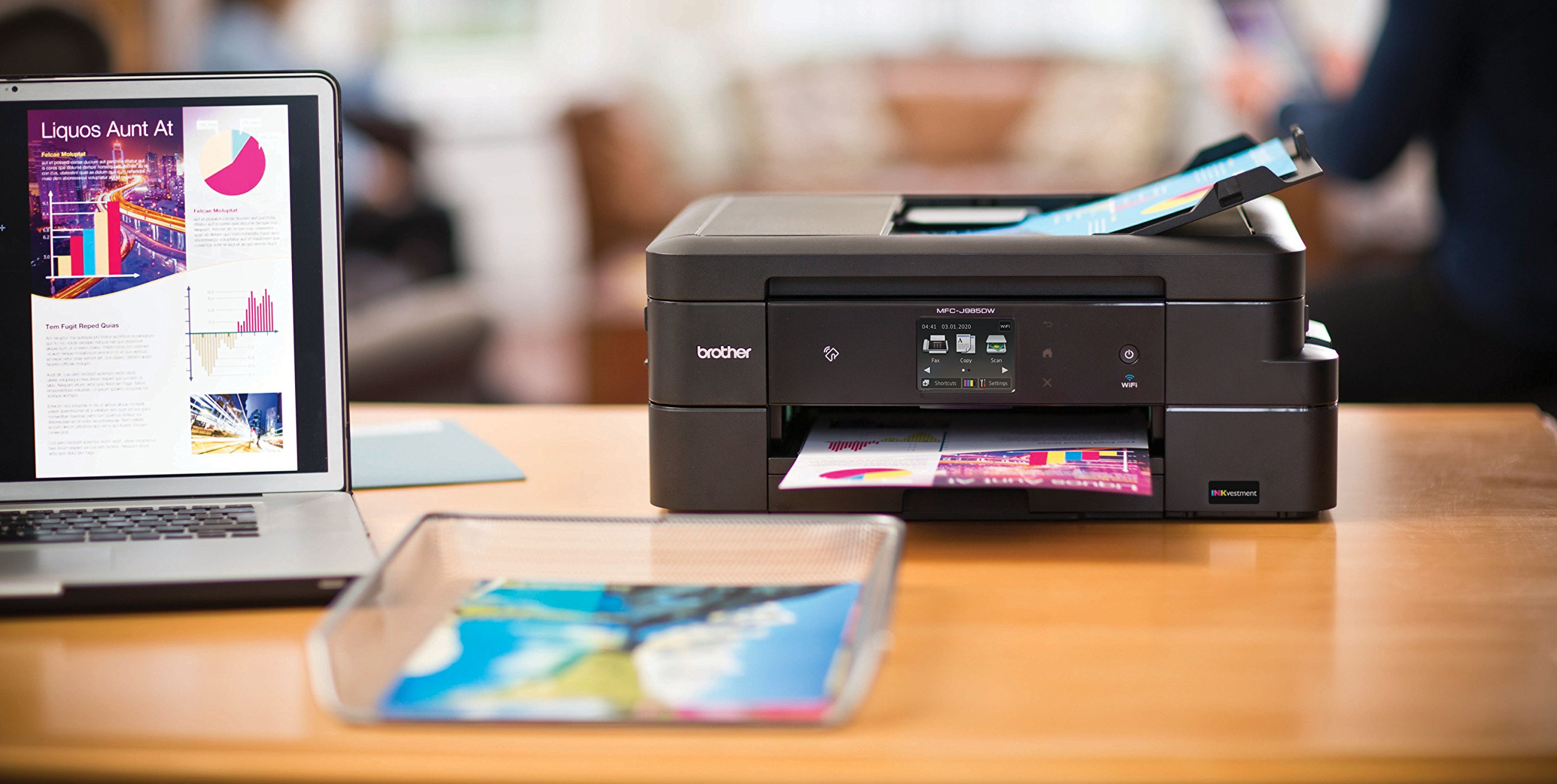 Brother MFC-J985DW Inkjet All-in-One Color Printer, Duplex, and Wireless, Amazon Dash Replenishment Enabled by Brother (Image #4)