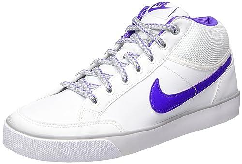 Nike Capri 3 Mid LTR (GS), Zapatillas de Tenis para Niñas, Blanco