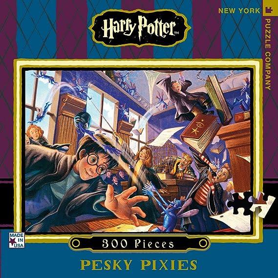 New York Puzzle Company - Harry Potter Pesky Pixies - 300 Piece ...