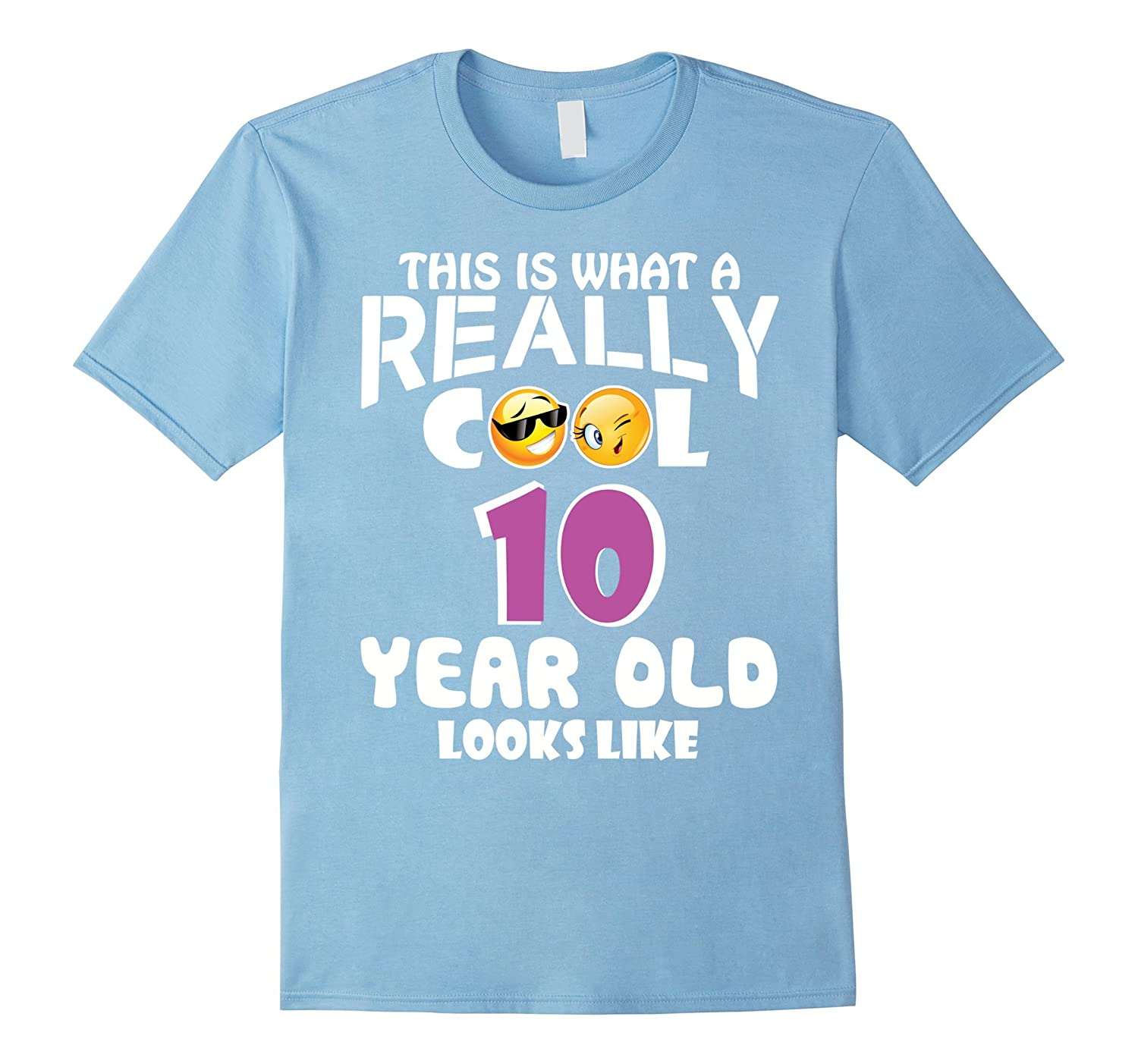 Womens Two Emojis Birthday Gifts For 10 Year Old Girls T