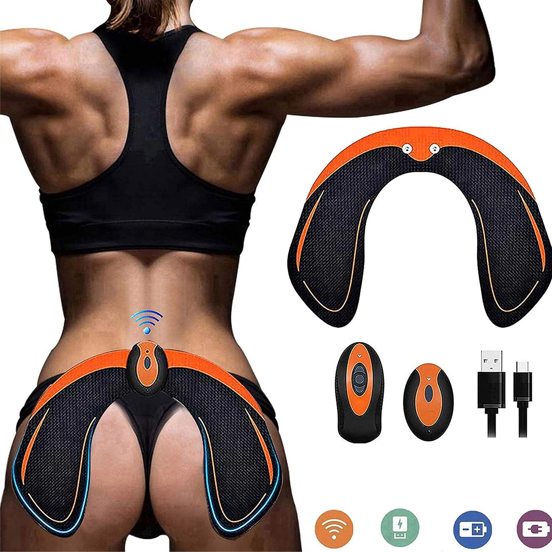 ZHENROG EMS Hips Electroestimulador Muscular,Gluteos Estimulador de Glúteos Herramientas Nalgas HipTrainer para la Cadera Mujer USB Recargable,Estimulador Muscular Ejercitar Gluteos, Hombre y Mujer
