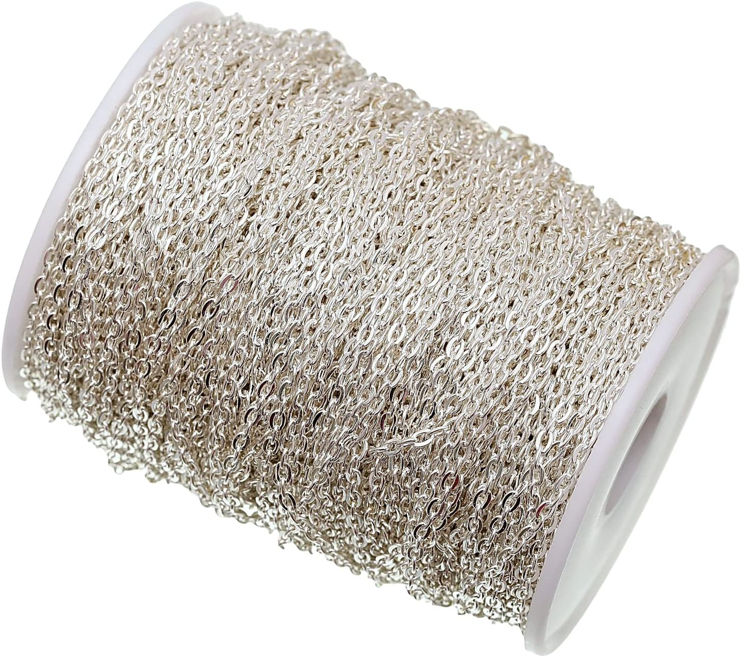 Charm Buddy 10 Metres 4.5mm x 3mm Cable Chains Findings Silver Jewellery Making Beading Stringing