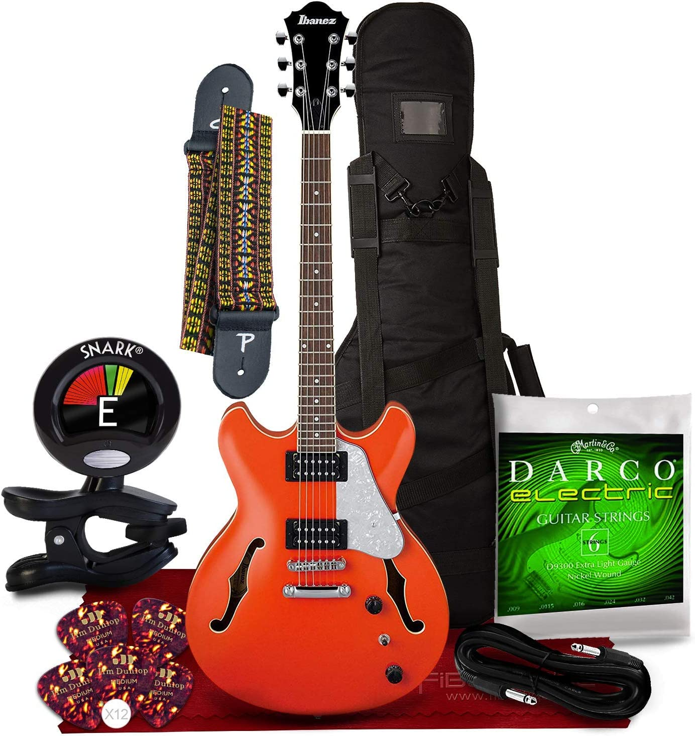Ibanez Artcore Vibrante AS63 Semi-Hollow Twilight Orange