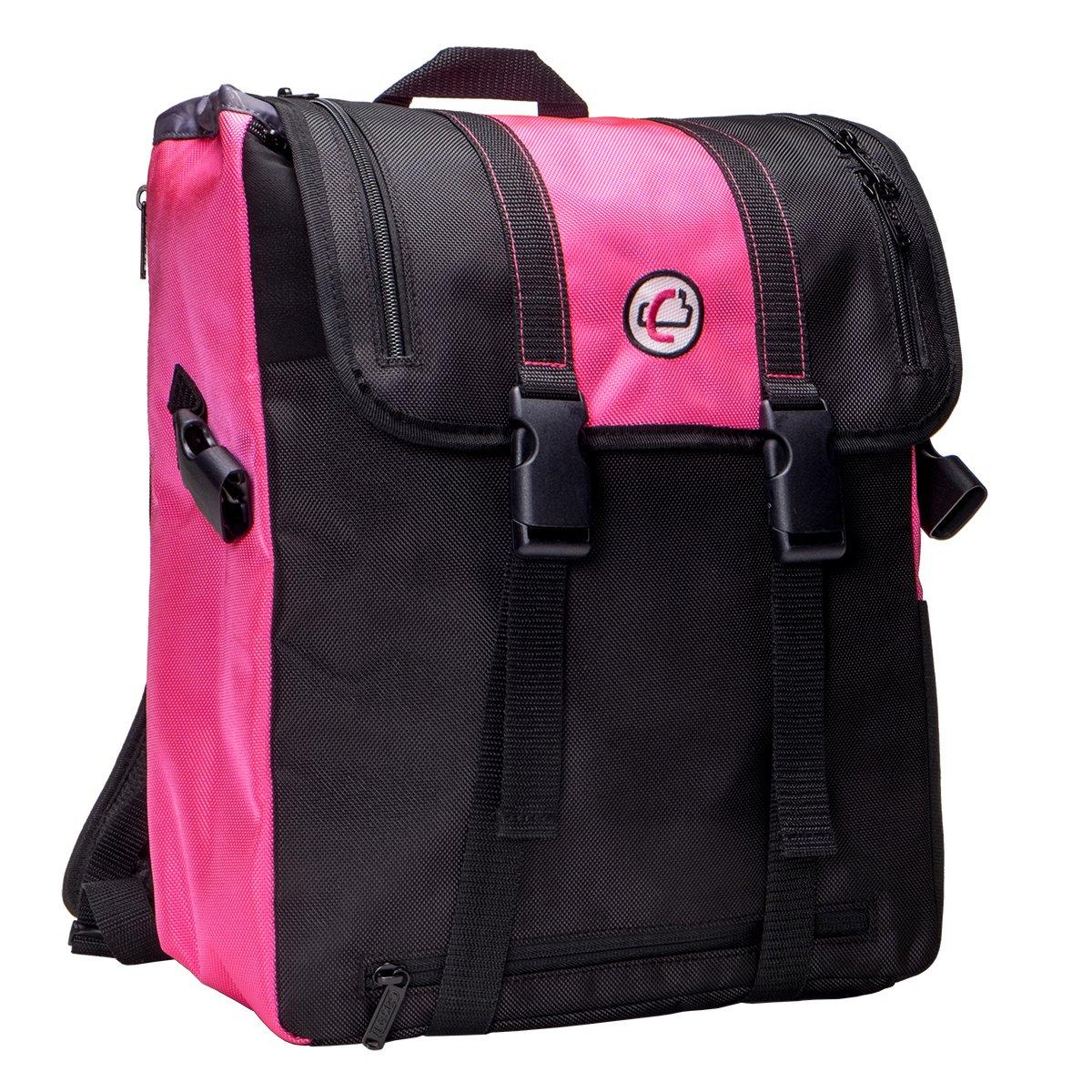 Case-it Case-It BKP-102 Laptop Backpack with Hide-Away Binder Holder, Fits 13-Inch Laptops, Black Grey BKP-102 BLKG