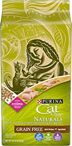 Purina Cat Chow Grain Free, Natural Dry Cat Food, Naturals With Real Chicken - 6.3 lb. Bag (Packaging may vary)