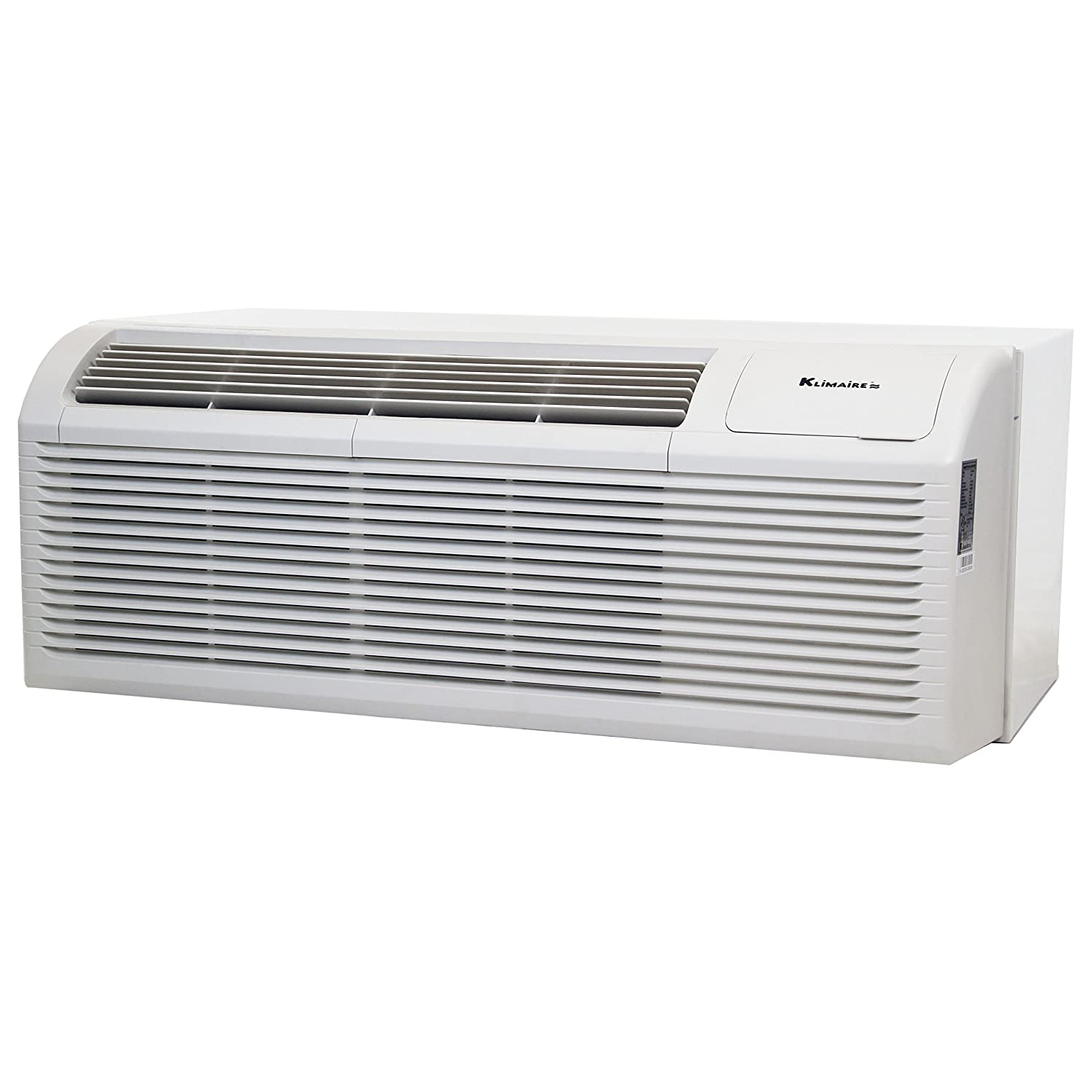 12000 BTU KLIMAIRE 10.5 EER PTAC Air Conditioner with 3kW Electric Heater includes Wall Sleeve and Aluminum Grille