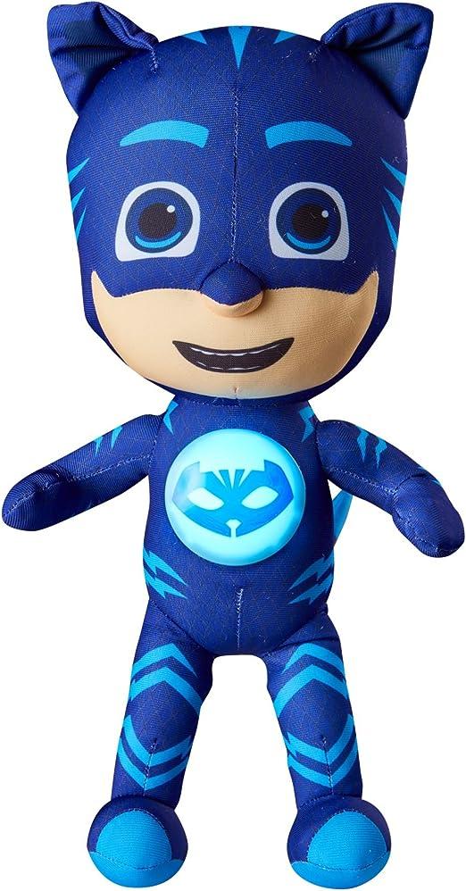 GoGlow PJ Masks Gatuno Luz de Noche y Juguete Blandito, Azul