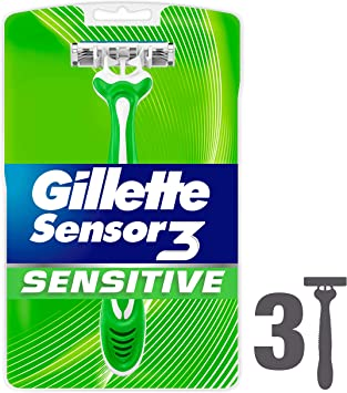 3 cuchillas de afeitar desechables Sensor3 para pieles sensibles ...
