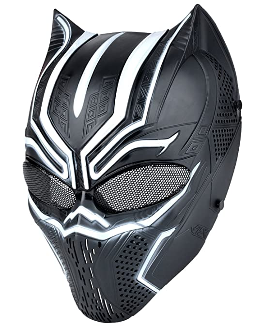 Outgeek Airsoft Mask, Full Face Tactical Mask with Metal Mesh Eye Protection Black Panther Mask Cosplay Mask Paintball Mask BB Mask For Xmas Party CS Game Shooting Hunting