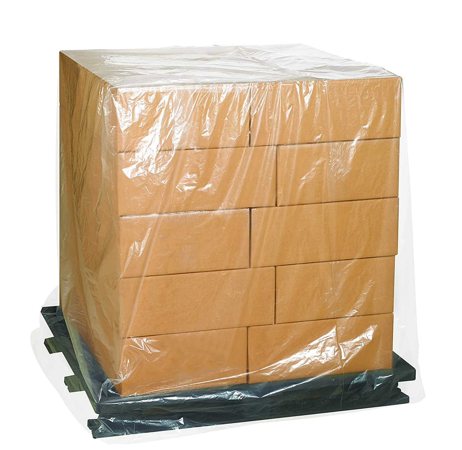 1 Mil 48 x 46 x 72 Clear Aviditi PC504 Pallet Covers Pack of 100