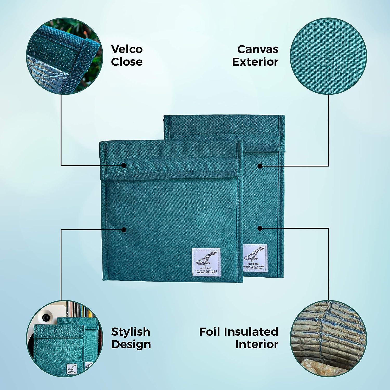 Amazon.com: HelloEco - Bolsa reutilizable con aislamiento de ...
