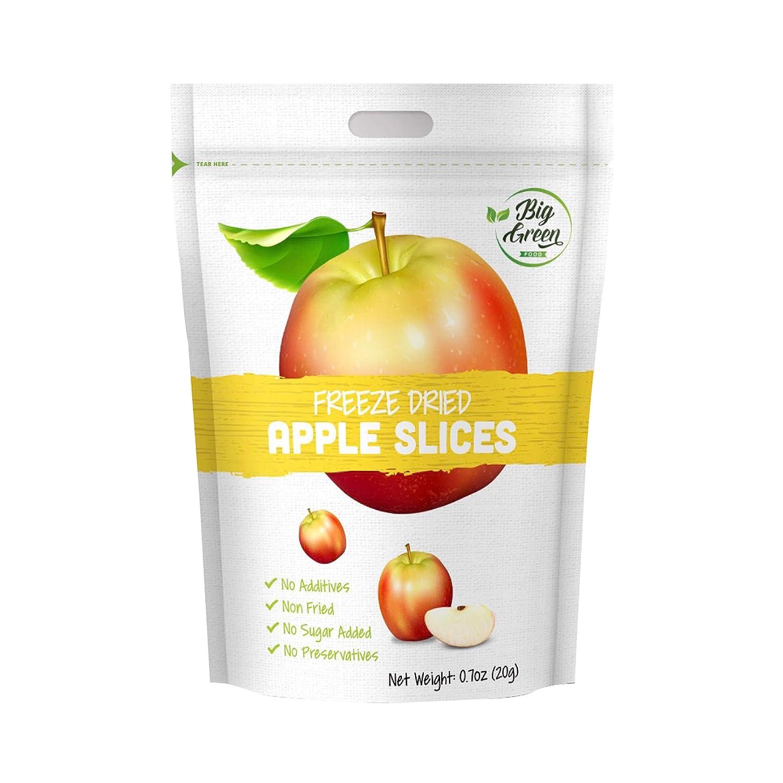 Big Green Organic Food- Freeze-Dried Apple, Healthy Snack, (12)