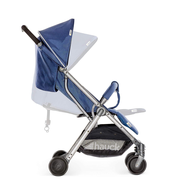 pliable mini dune main en aluminium Denim Hauck de 0 mois jusqu/á 15 kg Bleu boucle de transport Swift Plus l/ég/ère poussette canne avec position de couchage