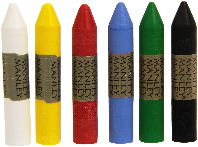Manley MNC00022 - Pack de 6 ceras, multicolor 106