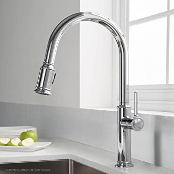 Kraus Kpf 1680ch Sellette Single Handle Pull Down Kitchen Faucet With Dual Function Sprayhead Chrome Amazon Com