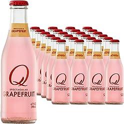 Q Drinks, Q Grapefruit, Spectacular Sparkling Grapefruit, Premium Mixer, 6.7 Ounce Bottle (Pack of 24)