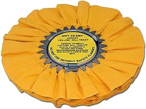 Zephyr AWY 58-8 MT Yellow Airway Mill Treat Buffing Wheel