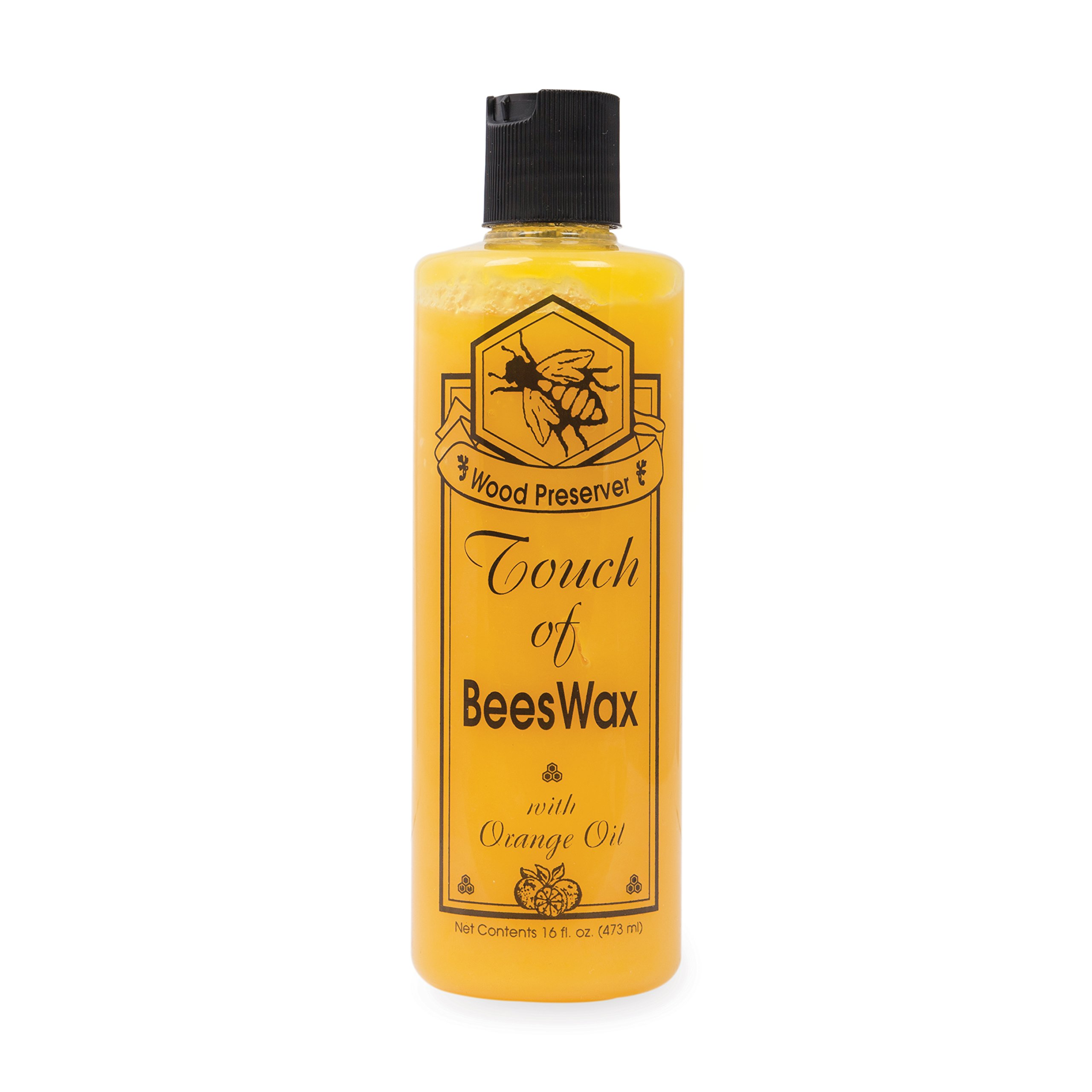 Beeswax Furniture Polish and Conditioner with Orange Oil. Wood Floor Scratch Repair, Feed Into Hardwood, Restore and Protect Cabinets 16 Ounce by Touch Of Oranges