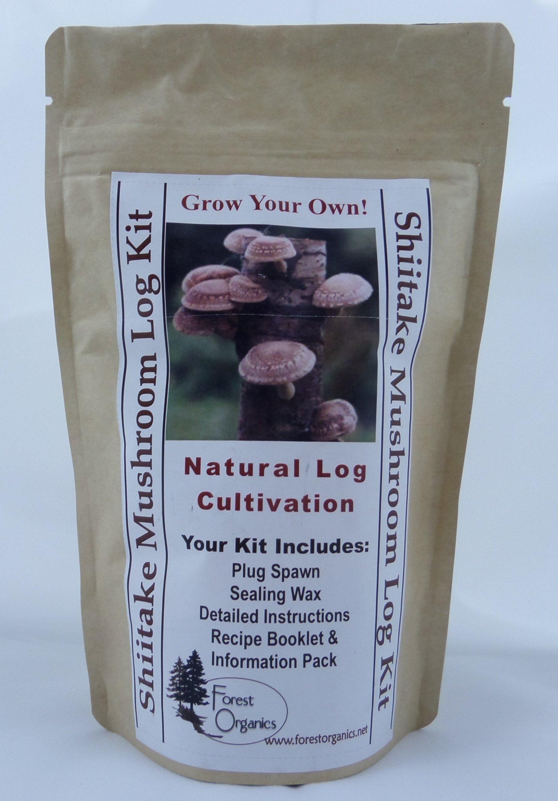 Forest Organics Shiitake Mushroom Growing Log Kit Cancer Fighting Grows For Years!
