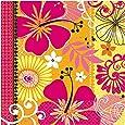 16 serviettes de table en papier Jaune Orange Tropical Party Heat - 33cm x 33cm