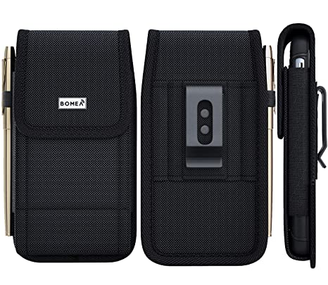 quality design 09272 daaef iPhone 6 Plus 6s Plus 7 Plus Holster, Bomea Rugged Nylon Vertical Belt Case  with Clip Durable Belt Clip Cell Phone Pouch Holder (Plus Size For iPhone  ...