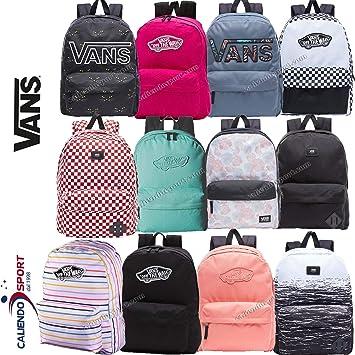 163b6201 Vans Realm Flying V Backpack Casual Daypack, 42 cm, 22 L, Dark Slate Black  California Floral
