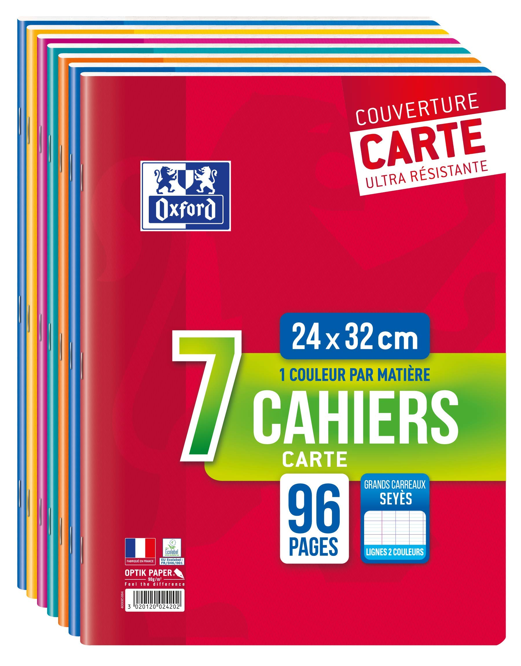 Oxford School 7 Gefalztes Handle 24 x 32 cm / 96 Pages 90 g by Oxford