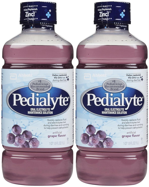 Pedialyte Oral Electrolyte Solution - Grape - 1 lt - 2 pk