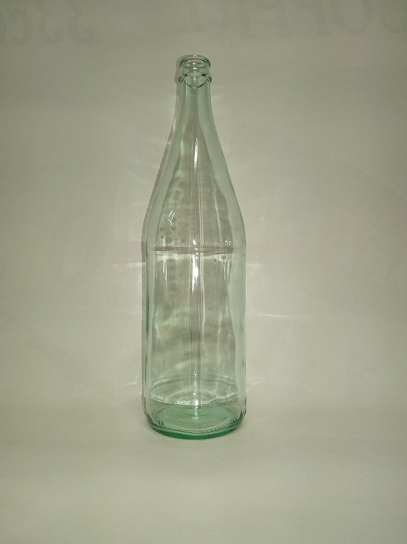 5 pezzi bottiglia bottiglie in vetro trasparente da 1 litro 100 cc 1000 ml per vino olio liquore canna per tappo a corona o sughero conico acquaverde