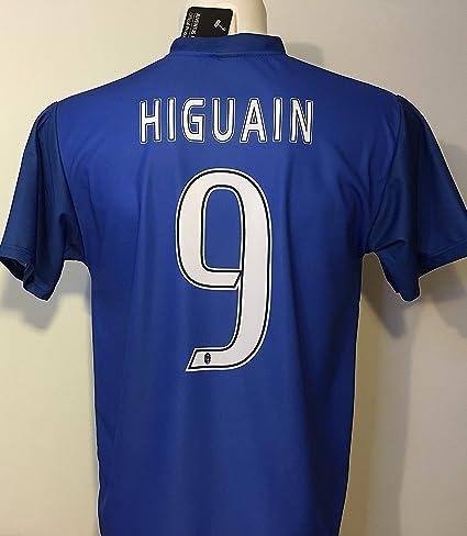 Segunda Camiseta de fútbol Azul Juventus Gonzalo Higuain 9 Réplica Autorizados Niño Hombres