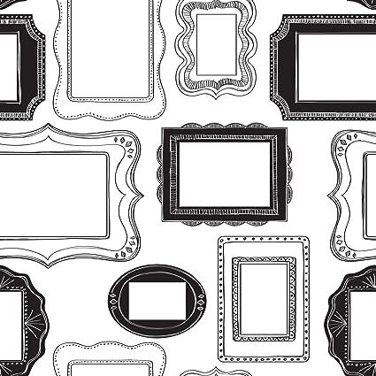 Photo Opp Frames Peel And Stick Wallpaper - - Amazon.com