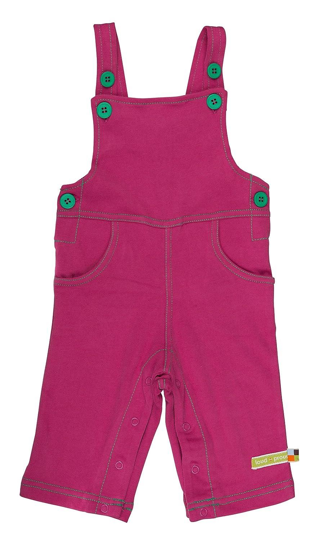 loud + proud Unisex - Baby Latzhose 465 Einfarbig Gr. 68 (Herstellergröße: 62/68) Violett (Fuchsia Fu) Loud and Proud