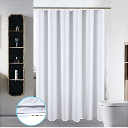 72 X 84 Washable Shower Curtain Liner Bathroom Water Repellent Fabric Cloth Mildew Resistant Polyester