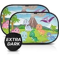 Parasol coche infantil con protección UV certificada extra oscura - autoadhesivo, para proteger del sol a bebés y…