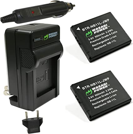 Amazon.com: Wasabi Power Batería y Cargador para Canon NB ...
