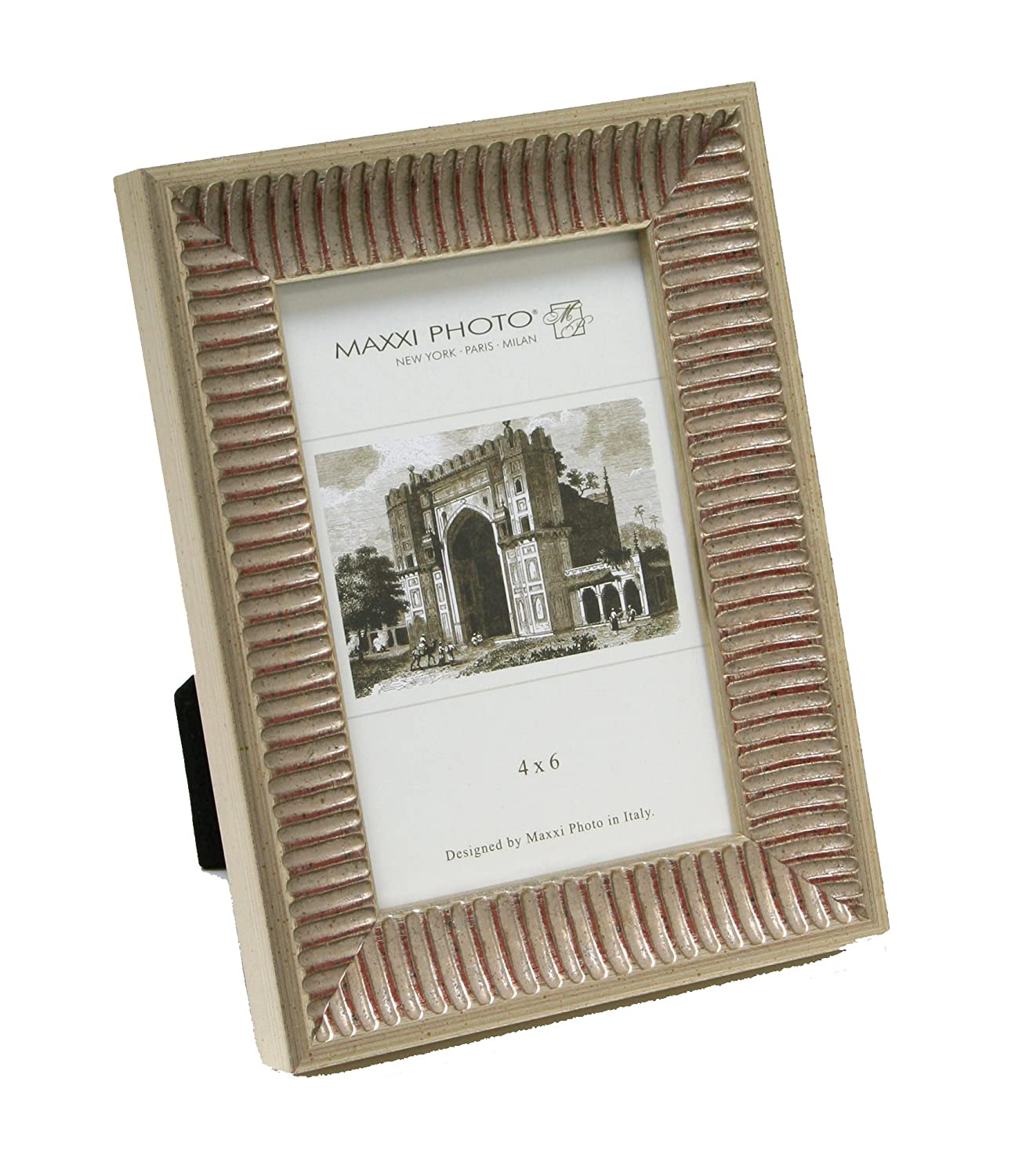 Antique Silver Leaf Solid Wood Casa Bella Maxxi Designs Photo Frame with Easel Back 5 x 7