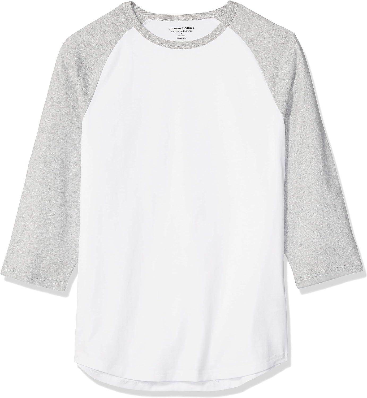 Essentials manga 3//4 Camiseta de b/éisbol para hombre