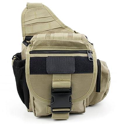 6aefd10bc301 Amazon.com: DURAGADGET Khaki Camera Bag with Multiple Pockets ...