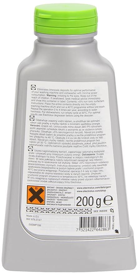 Electrolux - Desincrustante para lavadora y lavavajillas (200 g ...