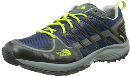 Carries New The North Face Litewave Explore Gtx Shoes Men Comsic Blue Dark Shadow Grey T246924