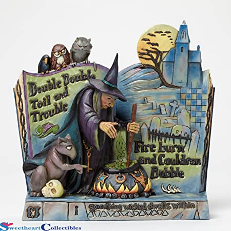 Jim Shore Heartwood Creek Curses Witch Spell Book Halloween Figurine 4047839 New