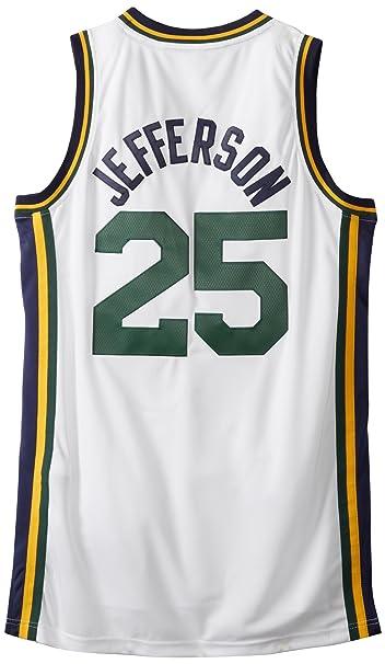 size 40 dc568 9a11a NBA Utah Jazz White Swingman Jersey Al Jefferson #25 Jazz