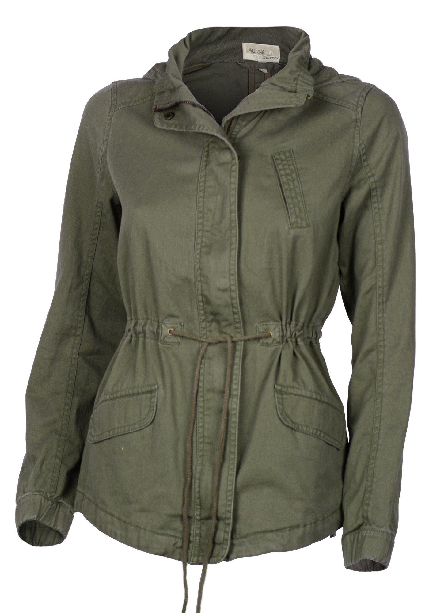 8f32d436e66 Women s Premium Vintage Wash Lightweight Military Fashion Twill Hoodie  Jacket   Anoraks   Clothing