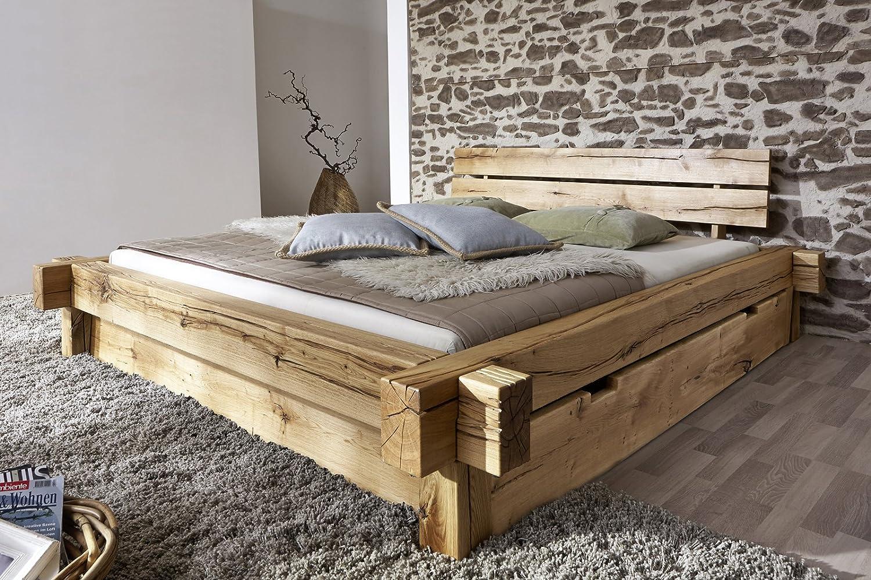 SAM Massiv-Holzbett 180x200 cm Johann mit Schubkästen, Bett aus ...